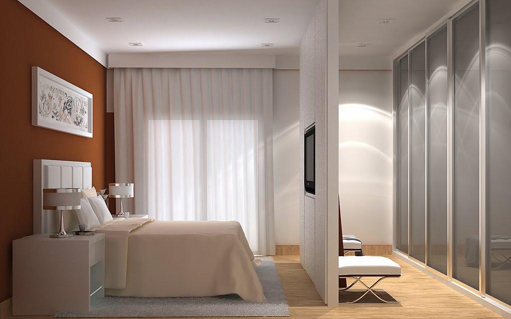 Construindo Minha Casa Clean 20 Quartos com Closet Veja  ~ Quarto Pequeno Tamanho