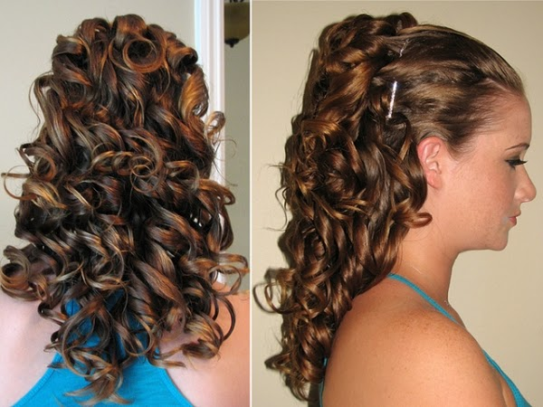 curly hairstyles for wedding day}
