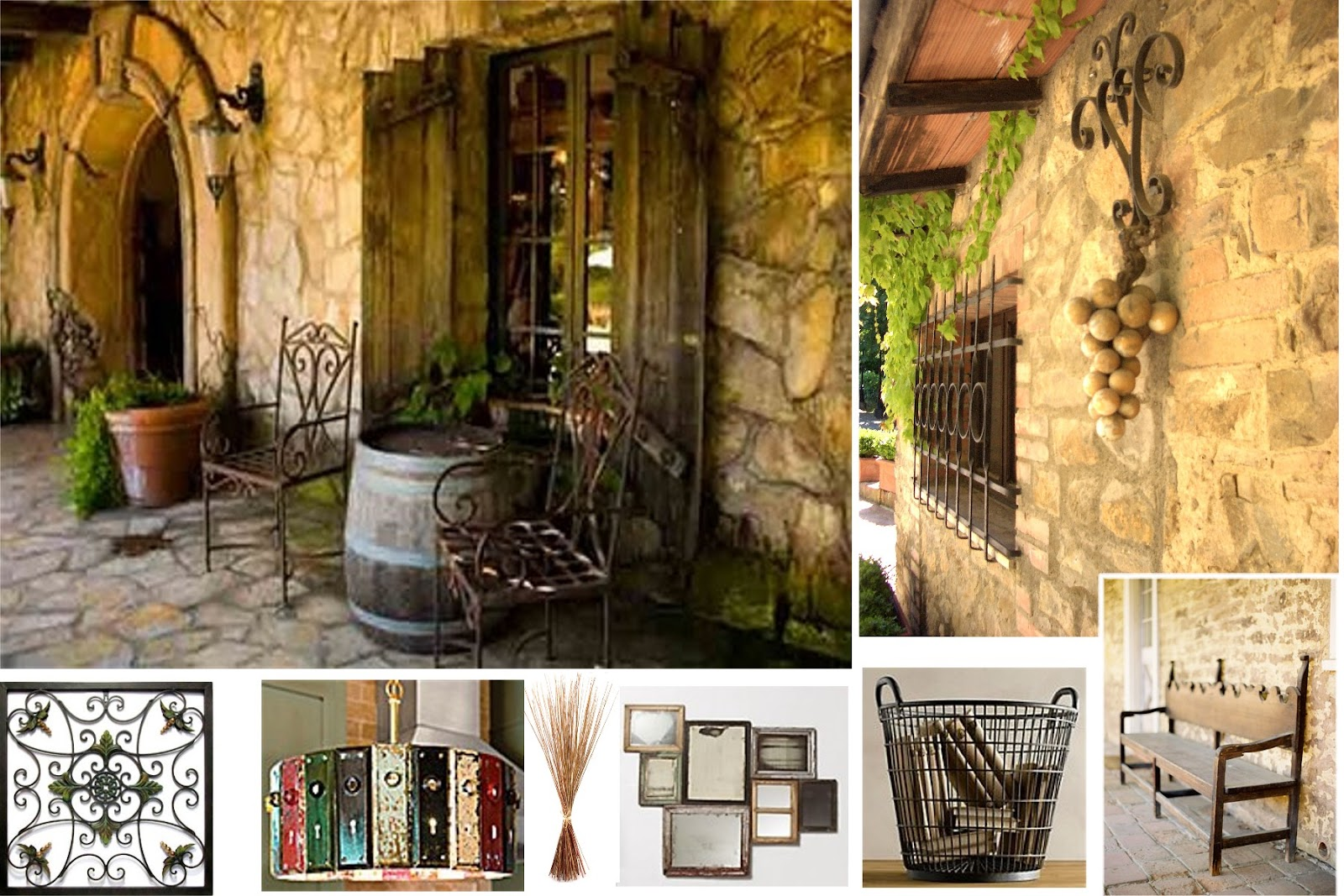 Ciaotraveler tuscan design before after for Tuscan decorations for home