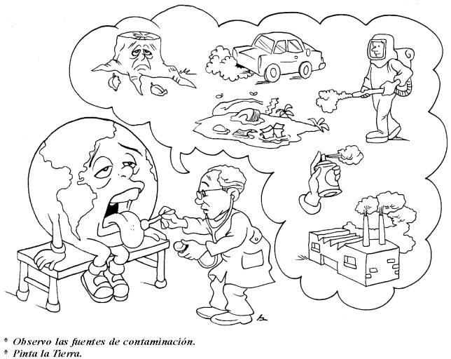 Dibujos para colorear de la contaminacion del agua - Imagui