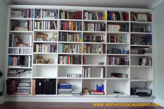 kệ sách, ke sach, tu sach am tuong, tủ sách âm tường