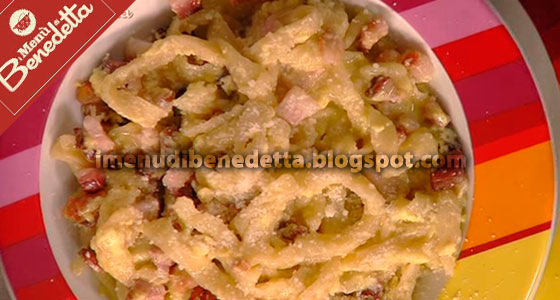 Stringozzi alla Carbonara Yes We Can di Benedetta Parodi