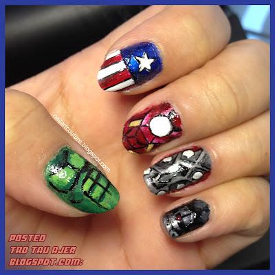 CUTE! - The Avengers Nail Art (3 GAMBAR) - ! TAO TAU AJER