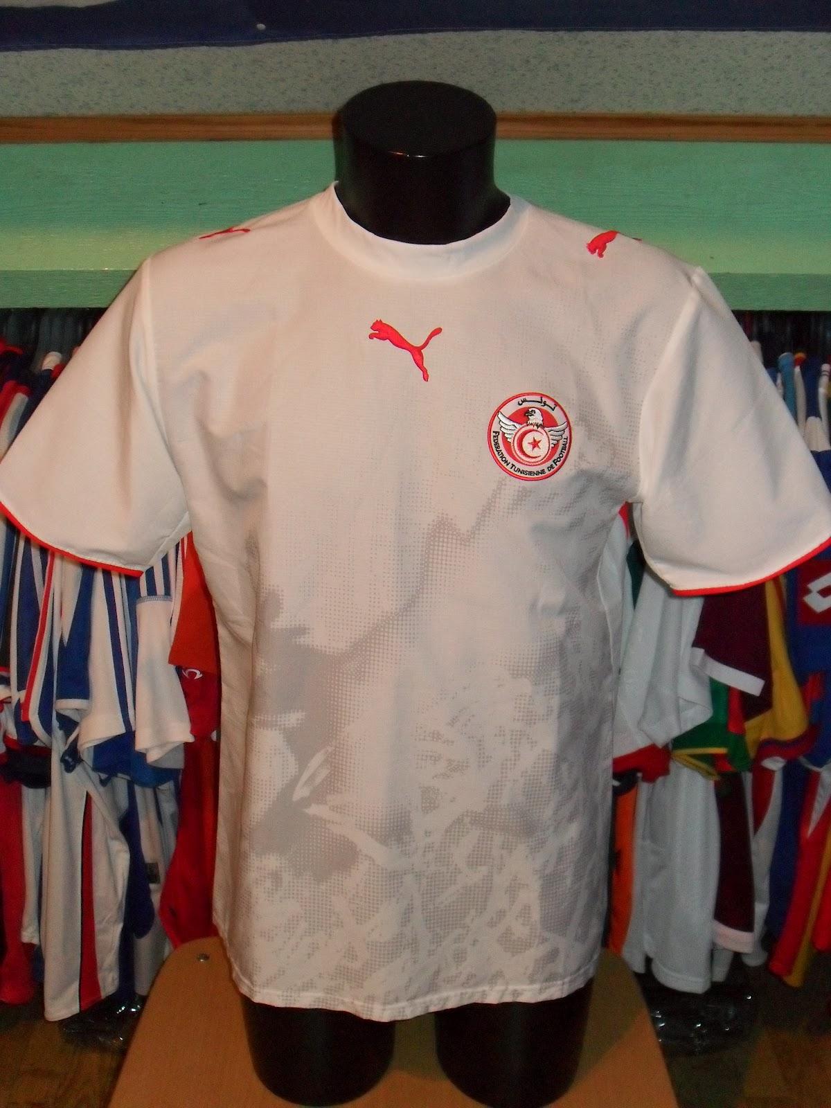 Mon grenier maillots tunisie al t nis 1998 2006 - Coupe du monde 1998 tunisie ...