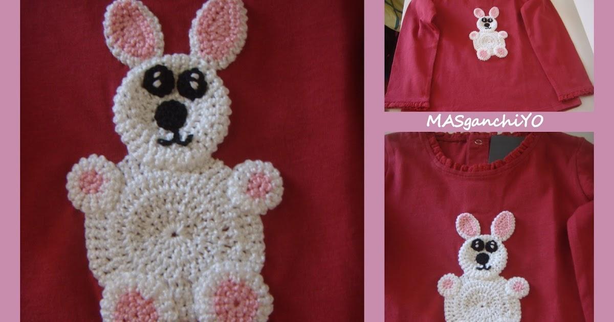 masganchiyo camisetas decoradas aplicaciones de crochet