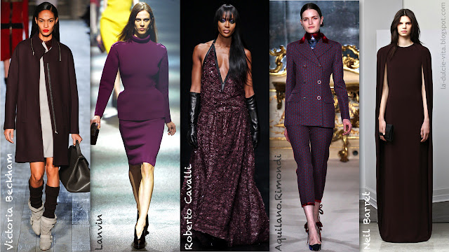 autumn winter fall trend aubergine purple fashion