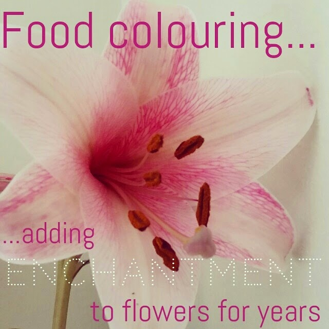 Food colouring and flowers