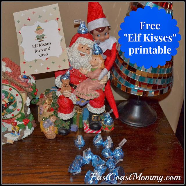 East coast mommy elf on the shelf idea elf kisses for Elf on the shelf chocolate kiss