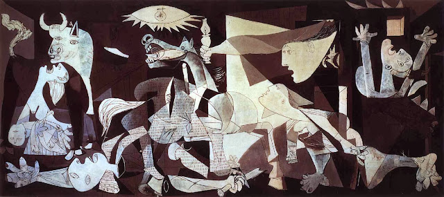 "Famous Painting ""Guernica"" by Pablo Picasso, 1937"
