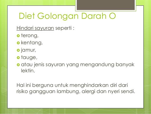 16 Makanan untuk Diet Golongan Darah O Paling Tepat dan Sehat