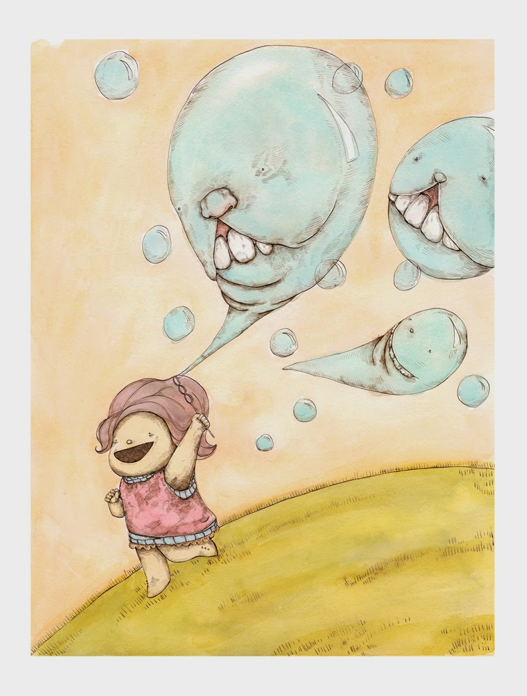 Guzu Gallery presents Untitled - A Lowbrow Pop Surrealism Group Art Show - I Have Friends as Long as They are High by Katrina Muir