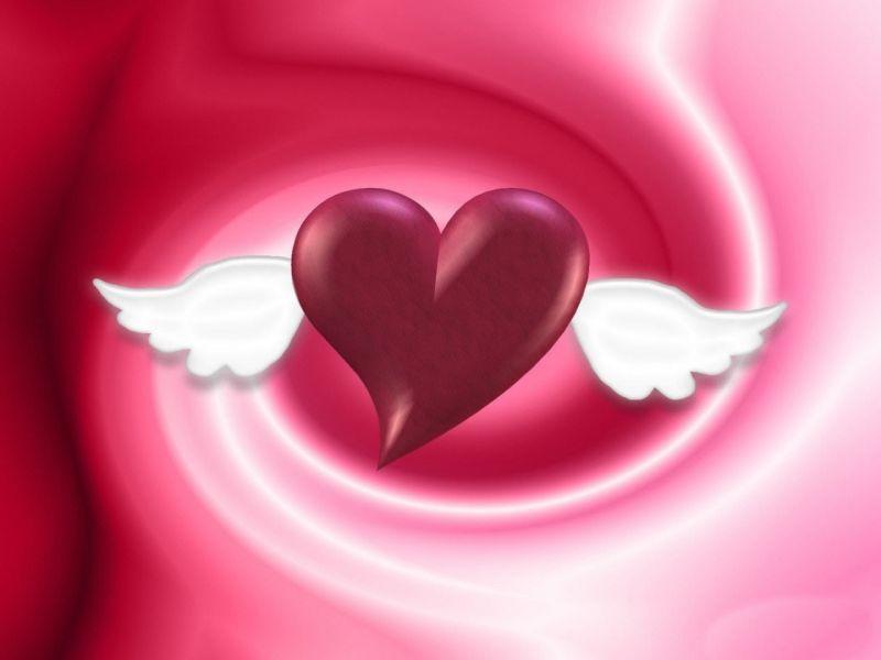 Imagen de amor: de corazón con alas