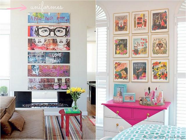 Inspiração de quadros para decoração