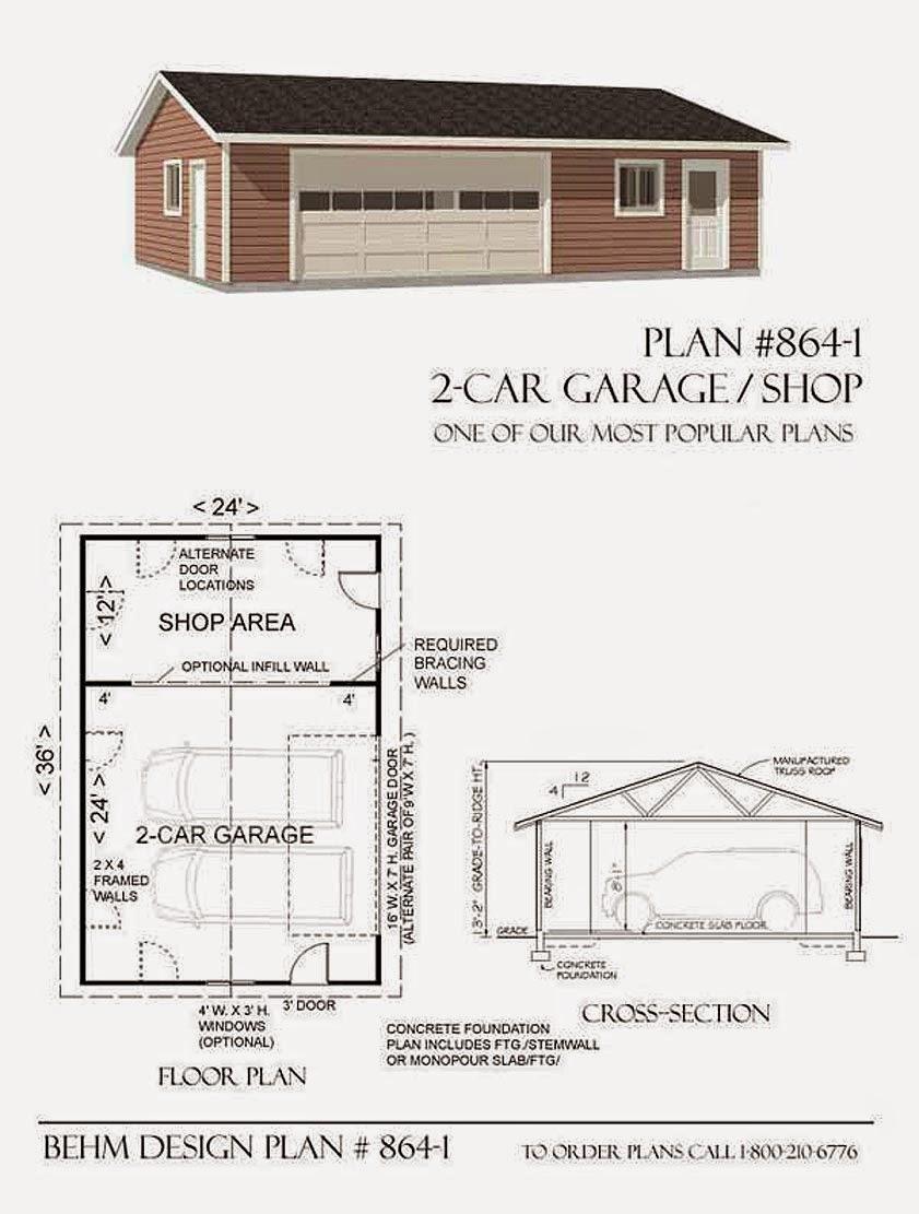 Garage Plans Blog Behm Design Garage Plan Examples Garage Plan