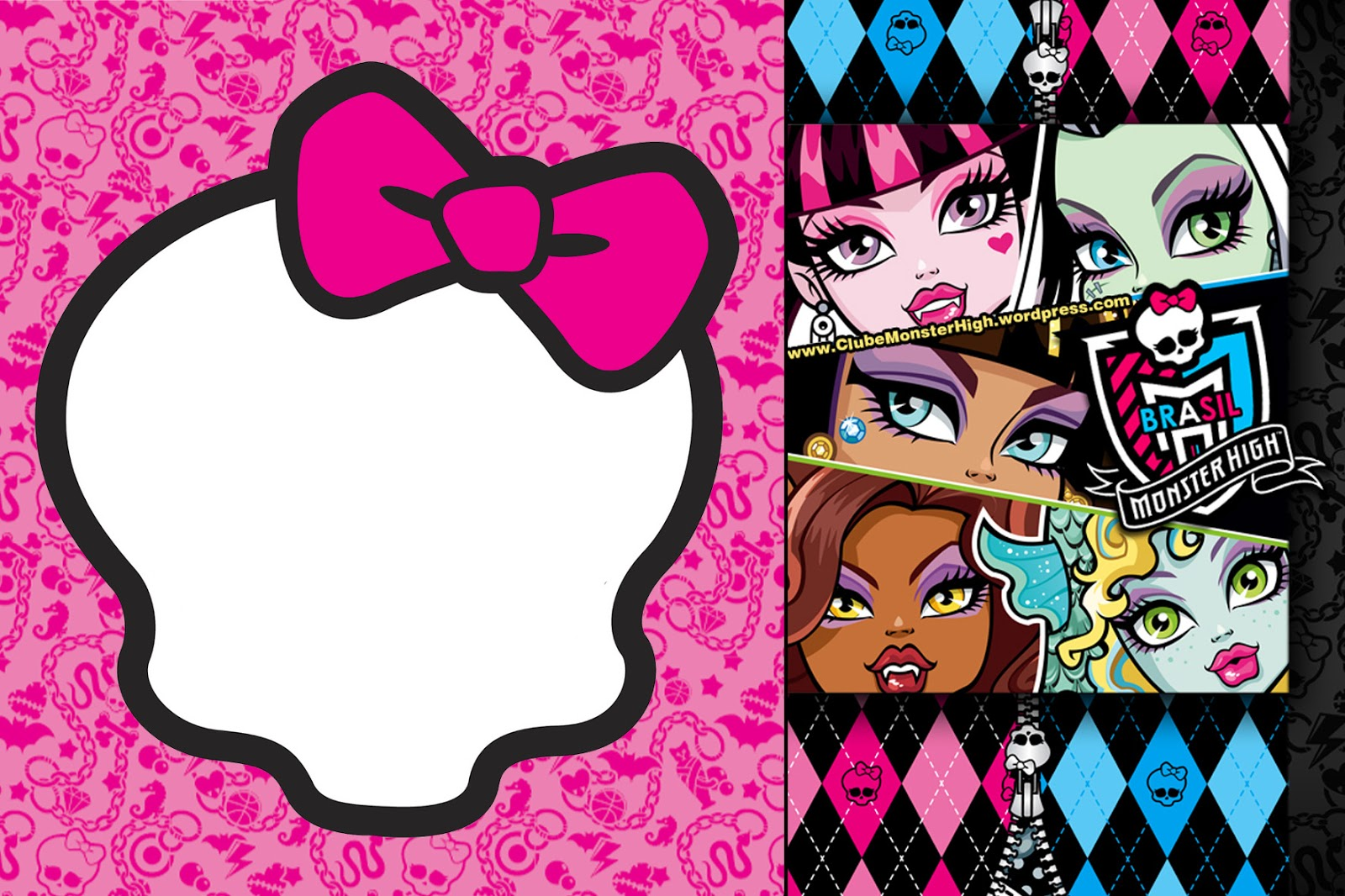 Monster High Printable Templates