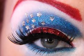 Country Flag Eye Makeup