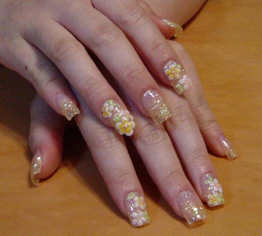 The Cool Pink purple nail designs stiletto style Picture