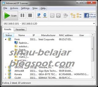 Advanced IP Scanner Memindai Jaringan Secara Cepat
