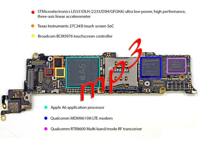 Iphone5 Motherboard Layout with parts definition | All About Mobiles