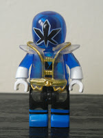 Power Rangers Super Samurai Mega Bloks Translucent Super Blue Ranger 03