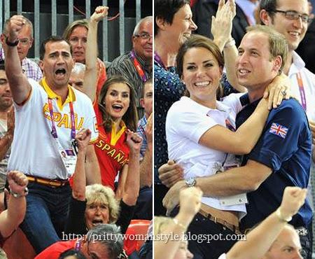 Кралските двойки фенове на спорта