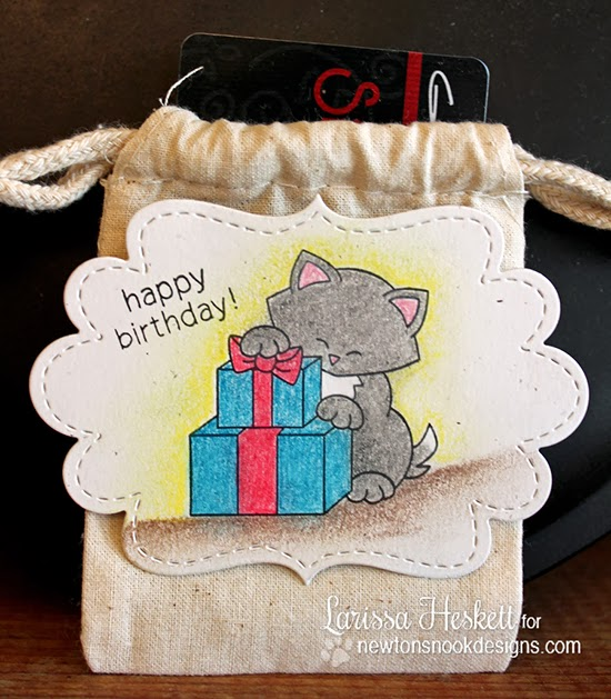 Newton's Birthday Bash Gift Tag by Larissa Heskett for Newton's Nook Designs