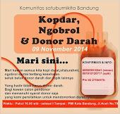 Kopdar, Ngobrol & Donor Darah, 09 November 2014