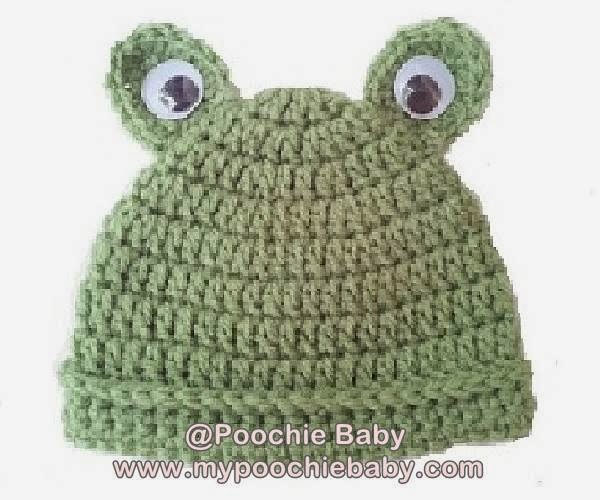 Free Crochet Pattern for Baby Frog Hat
