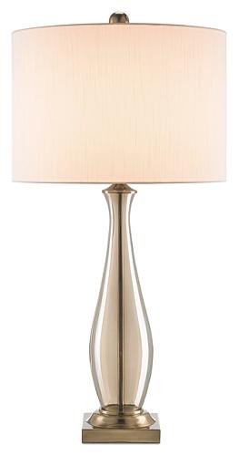 amber glass lamp