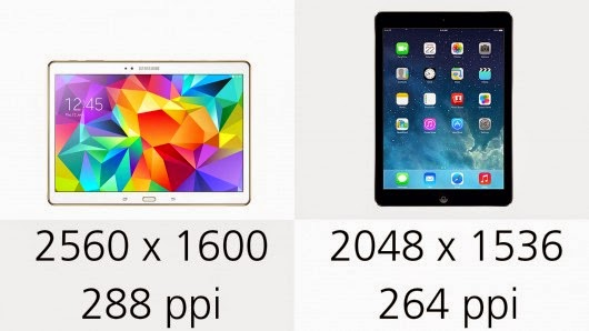 iPad Air Vs Galaxy Tab S