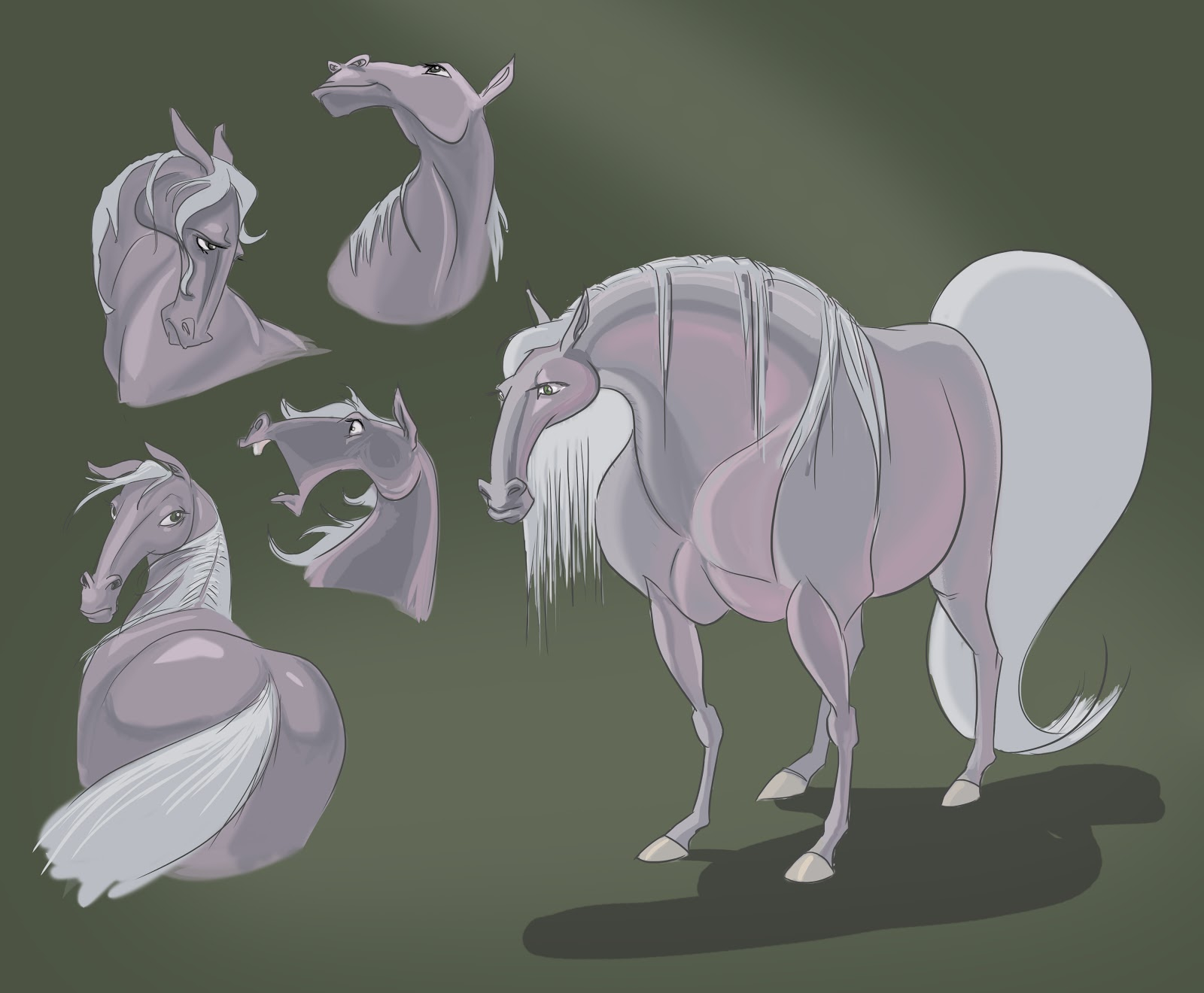 Pink n Grey Female Horse Character Design | Free Nance Pants