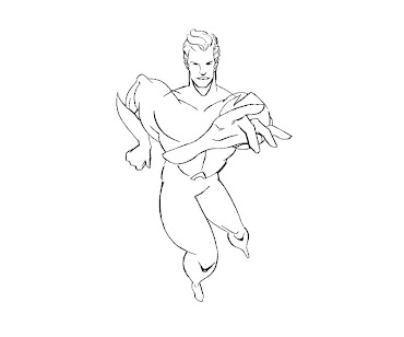 #6 Aquaman Coloring Page