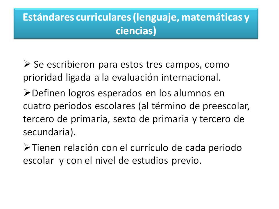 4to congreso de educacion de preescolar for Estandares para preescolar