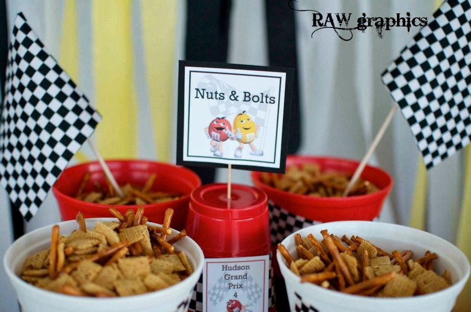 M&M racecar party snacks