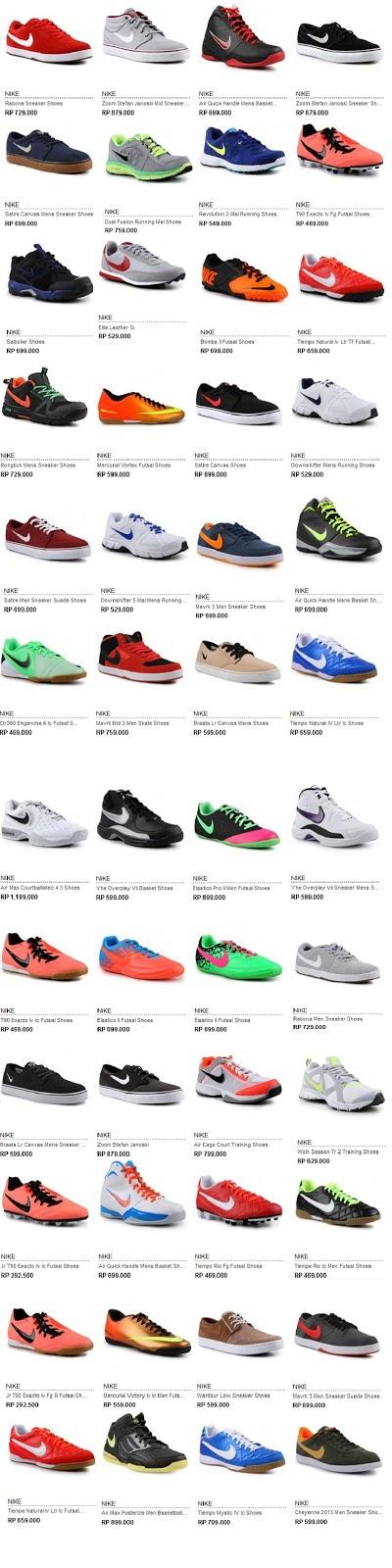 Daftar Harga Sepatu NIKE Asli Terbaru 2013 | Daftar Harga Terbaru