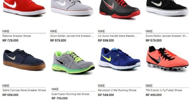 Daftar Harga Sepatu NIKE Asli Terbaru 2013