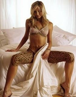 Tribal Celtic Knots tattoo design on Girls Thighs