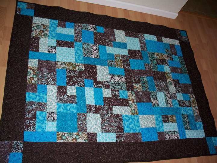 Lulu & Sweet Pea: Let's get to the crafty stuff! : teal and brown quilt - Adamdwight.com