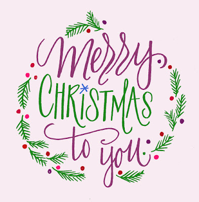 Merry Christmas - Lettering Lately blog