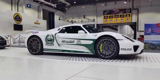 Porsche 918 Spyder Jadi Mobil Polisi Dubai, Waw!