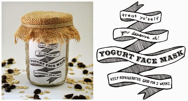 Free Printable // Yogurt Face Mask