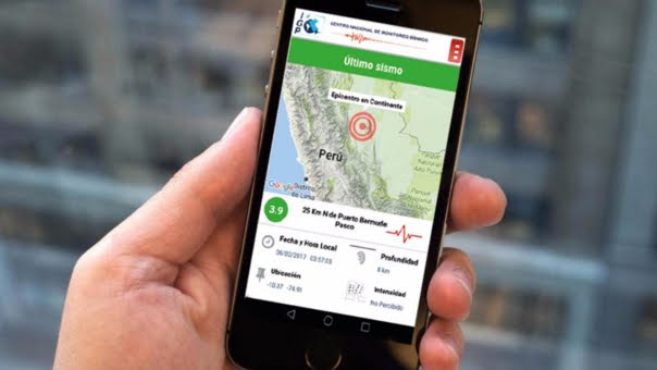 App SISMOS PERU -Android