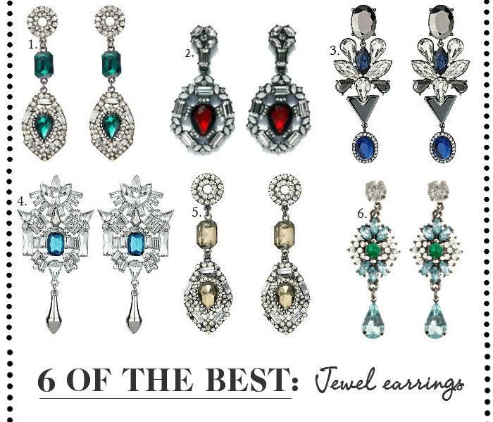 Jewelled earrings AW13 high street