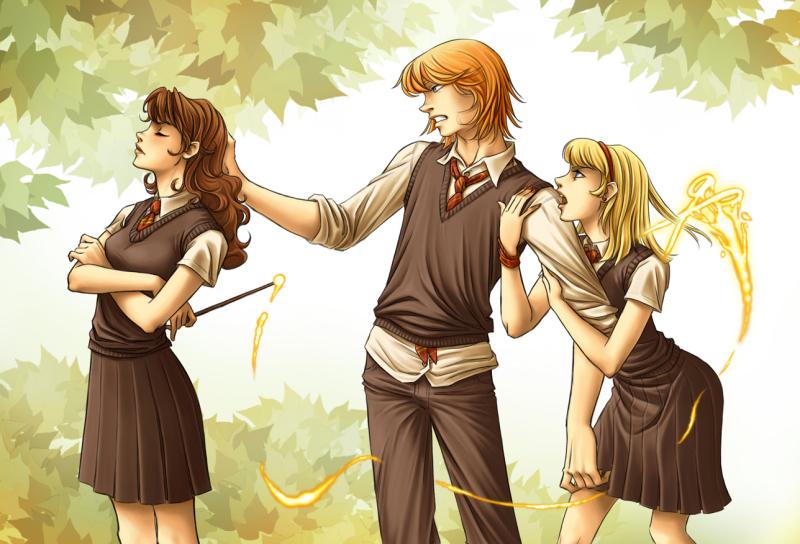 Fred Weasley And Hermione Granger Fan Art kicked by Mrs  Weasley