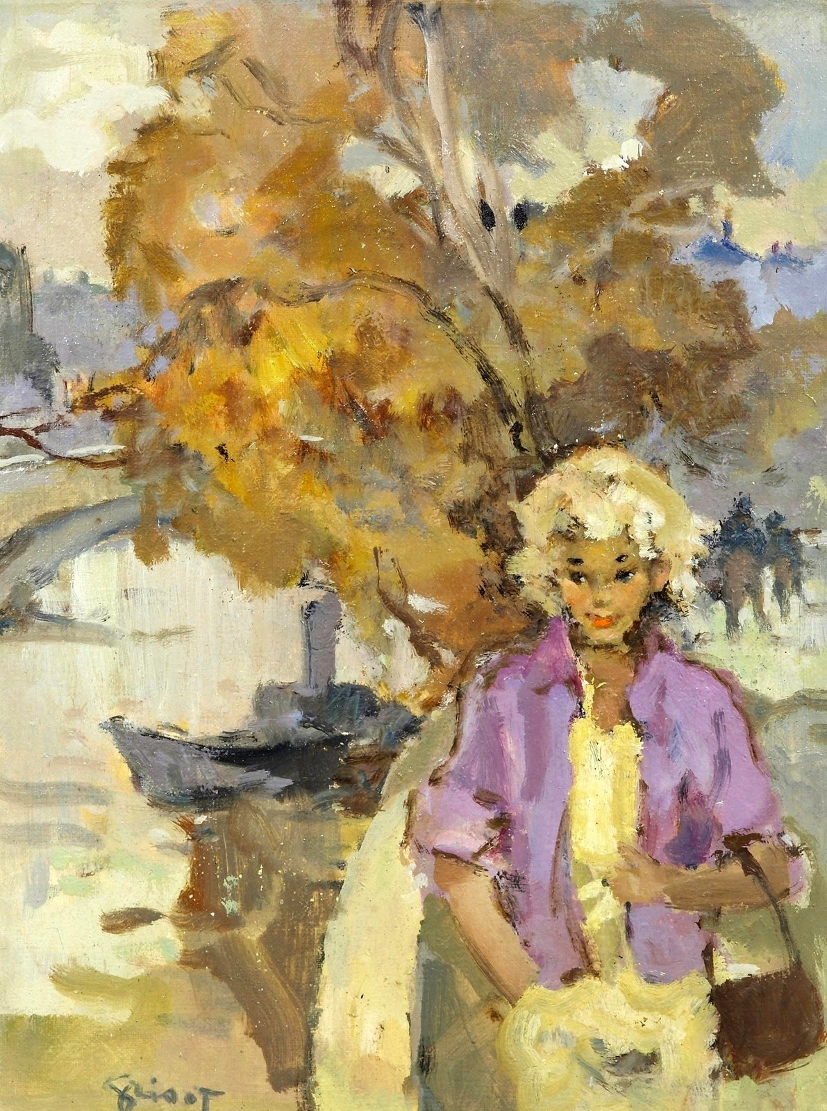 Pierre Grisot A Girl in the Park