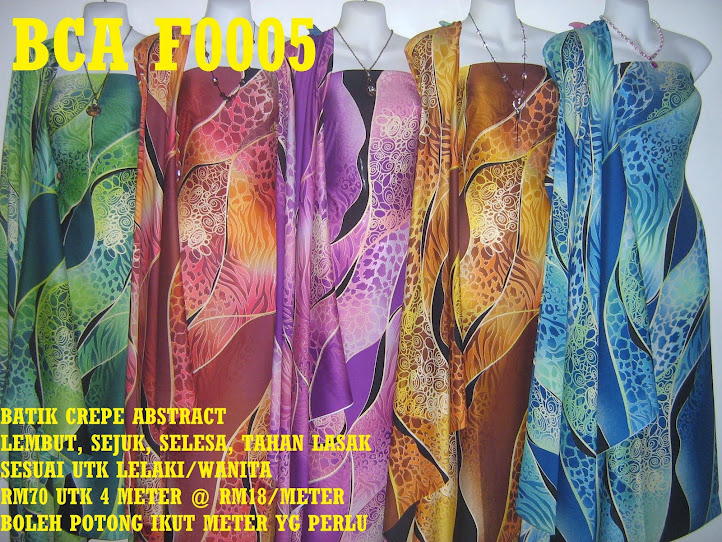 BCA F0005: BATIK CREPE ABSTRACT,  4 METER