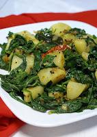 Batatas com Espinafre (vegana)