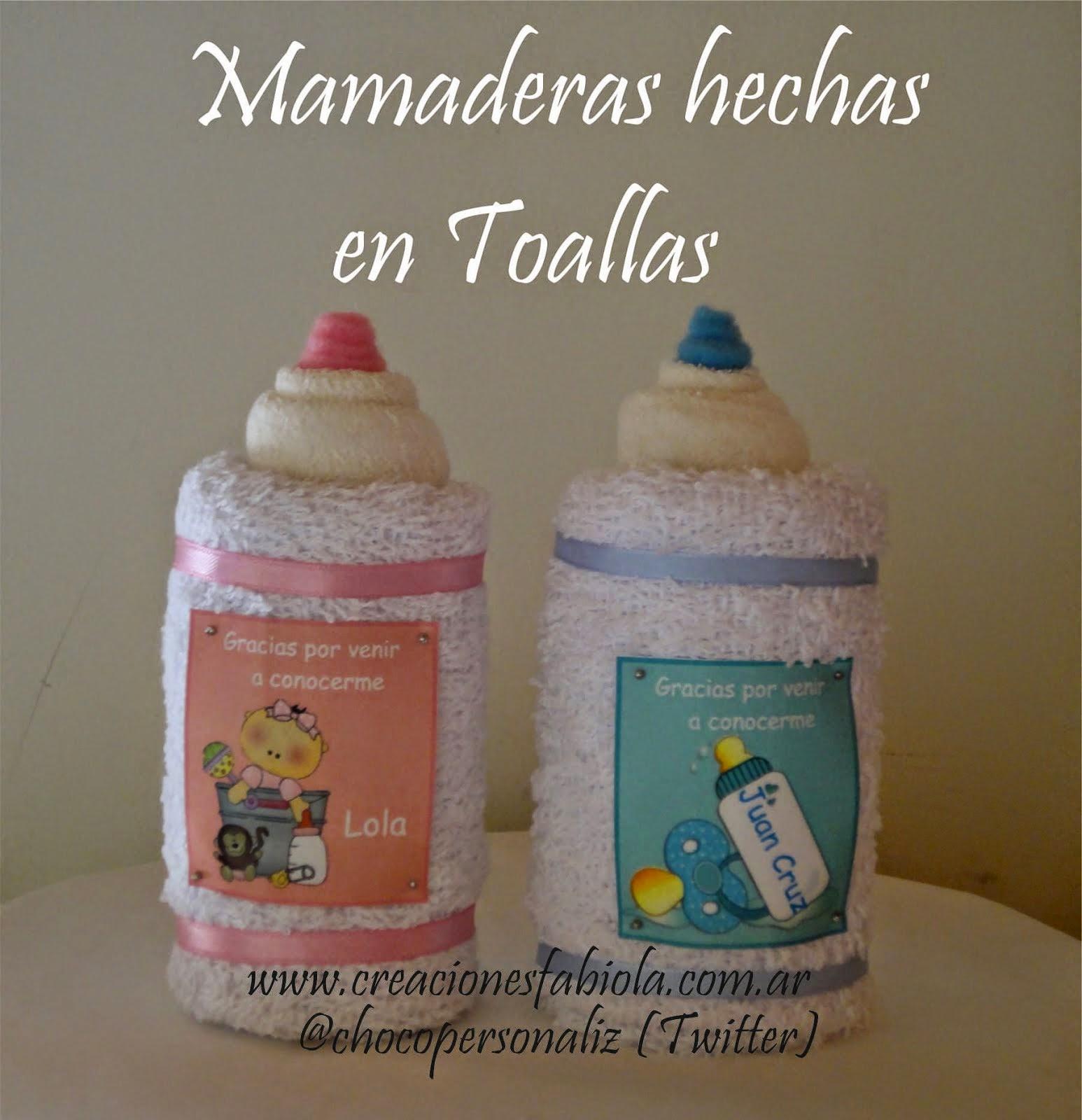 Mamaderas en Toalla
