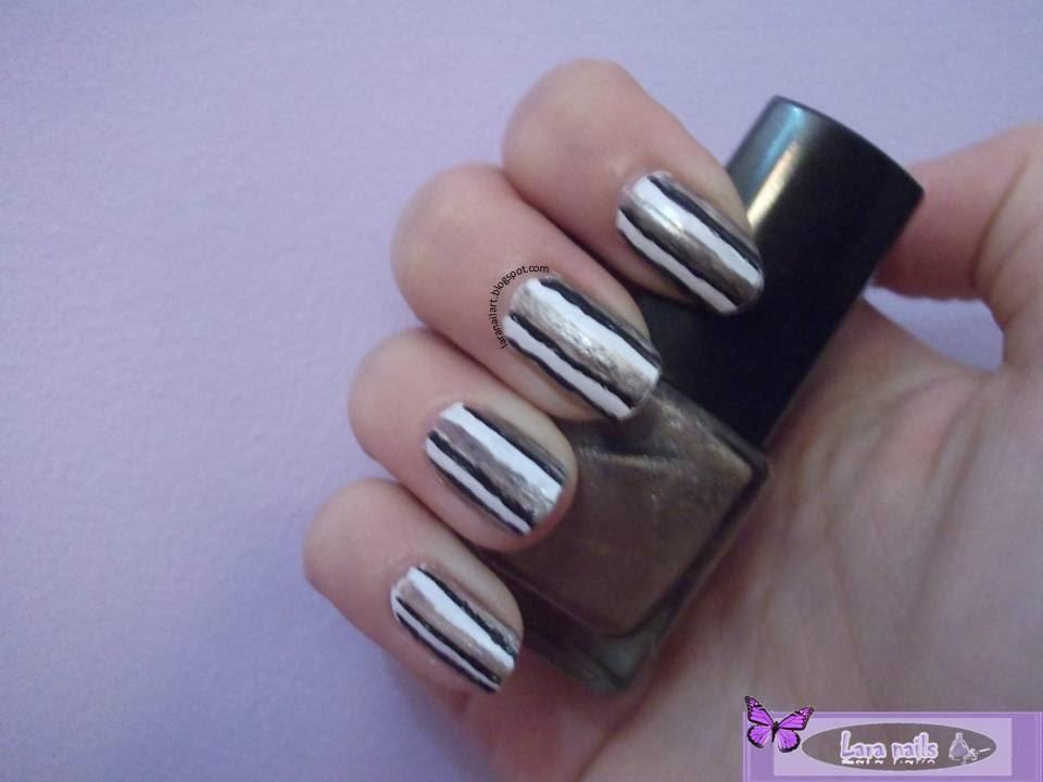 Nail art con lineas paso a paso lara nails
