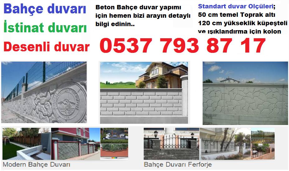 Beton bahçe duvarı 0537 793 8717